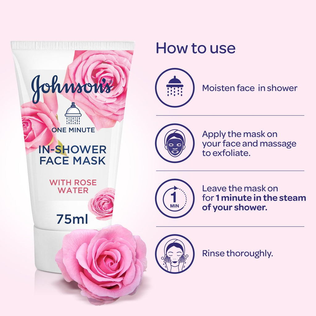 Johnson's In Shower Rose Face Mask 75ML