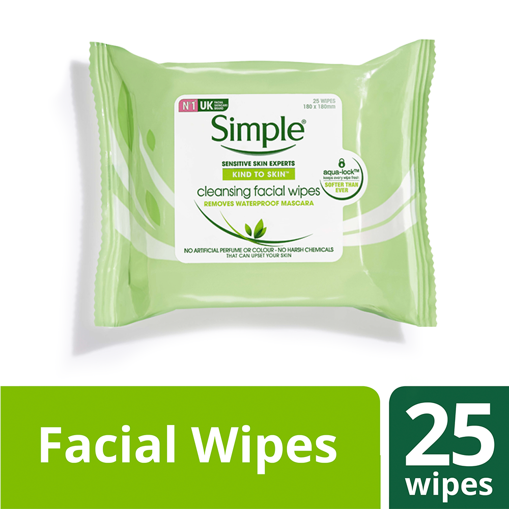 Simple Kind to Skin Cleansing Facial Wipes - 50% OFF