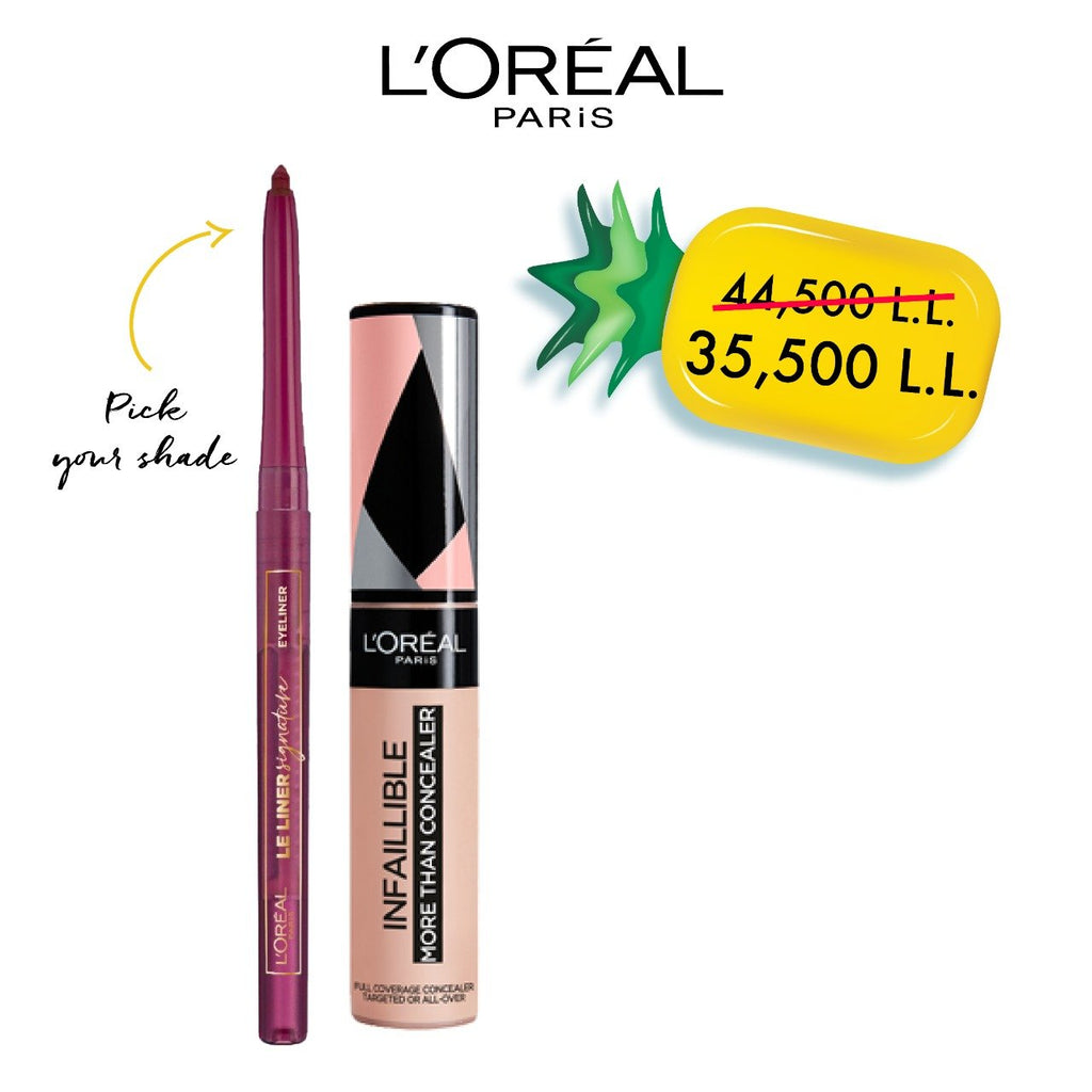 L'Oreal Paris Exclusive Offer: Le Liner Signature + Infallible Concealer Bundle 22% Off