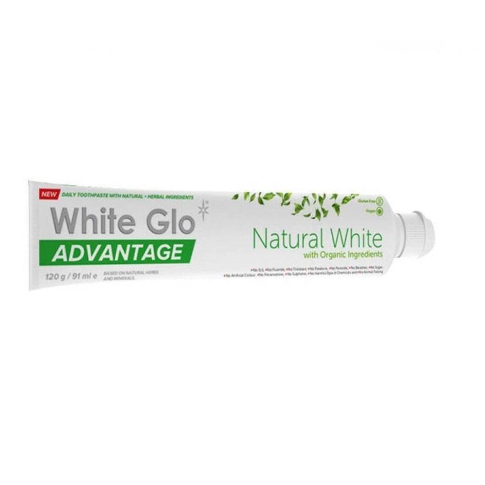 White Glo Advantage Natural Toothpaste 140g