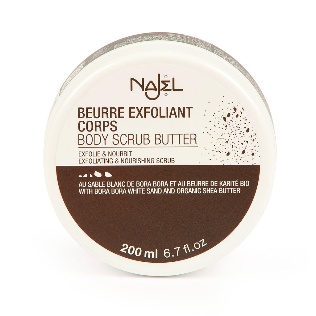 Najel Organic Nourishing Body Scrub Butter with Bora Bora White Sand