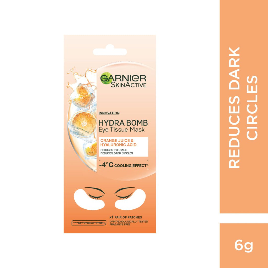 Garnier Hyaluronic Acid and Orange Juice Eye Sheet Mask