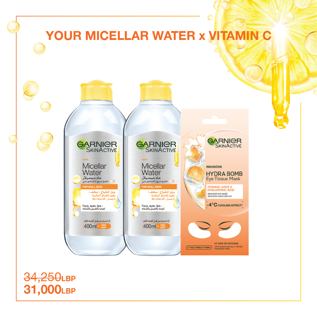 Garnier Your Micellar Water x Vitamin C Offer - 10% OFF!