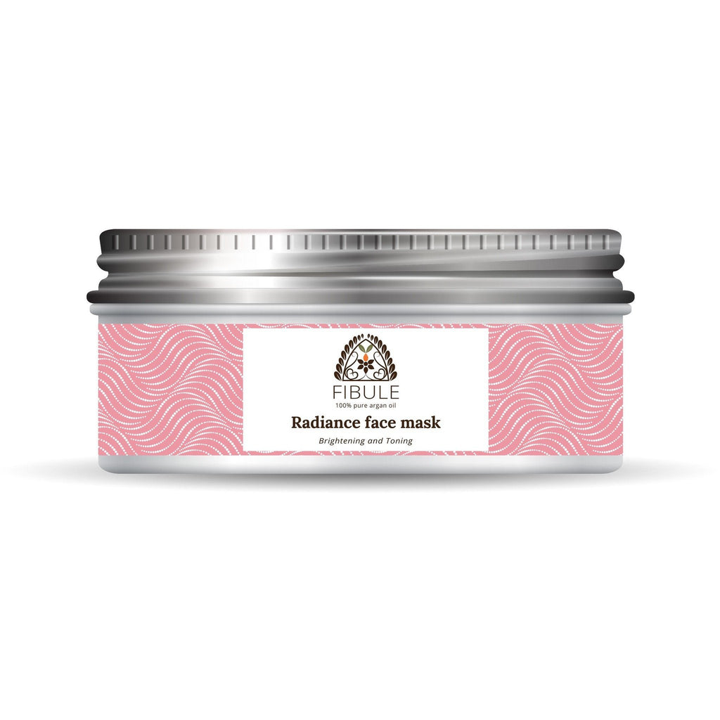 Fibule Radiance Face Mask - Pure Ghassoul White Clay, Rose Water & Argan Oil
