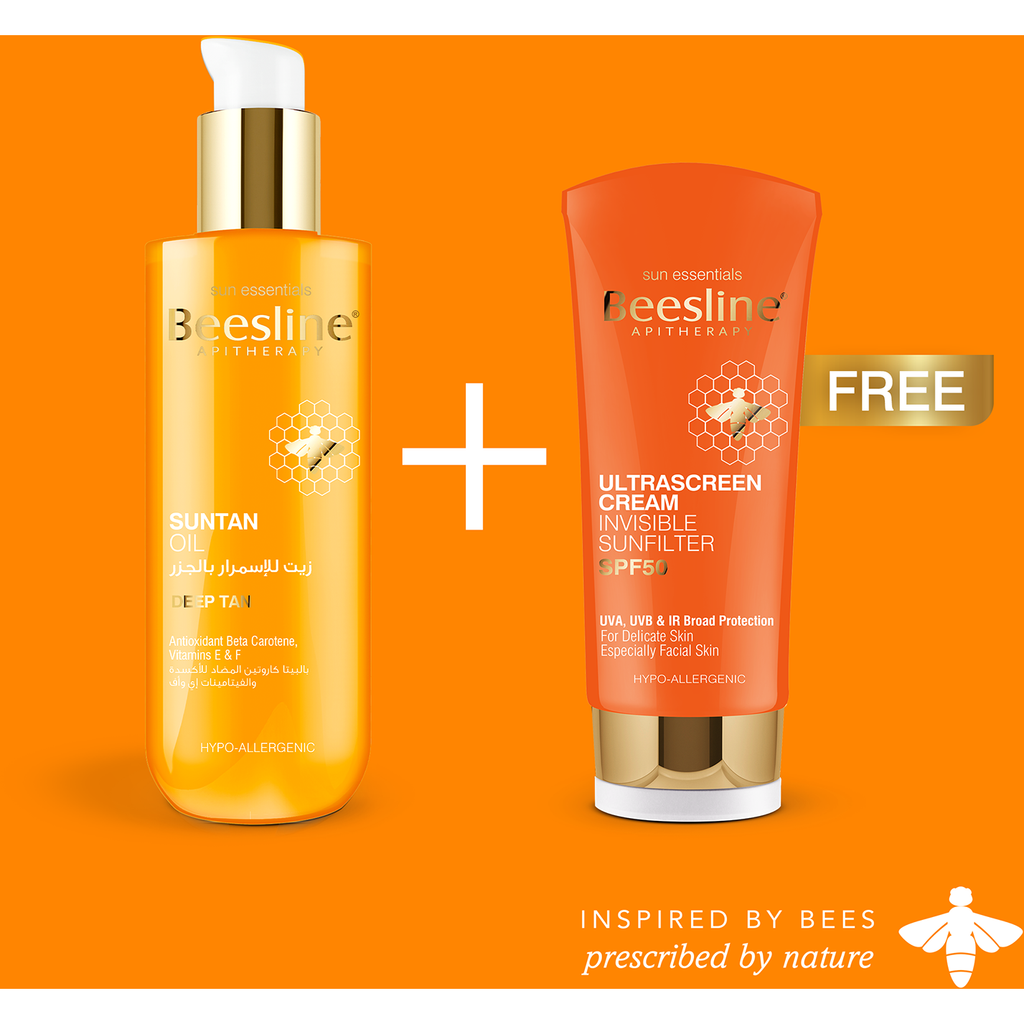 Beesline Suntan Oil + Free Ultrascreen Cream SPF50