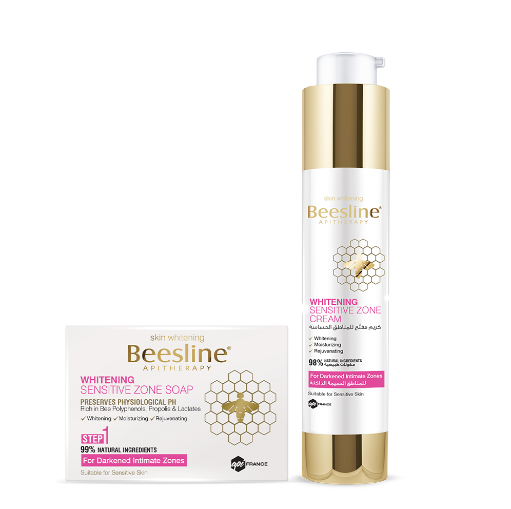 Beesline Whitening Sensitive Zone Routine: Soap + Cream Bundle