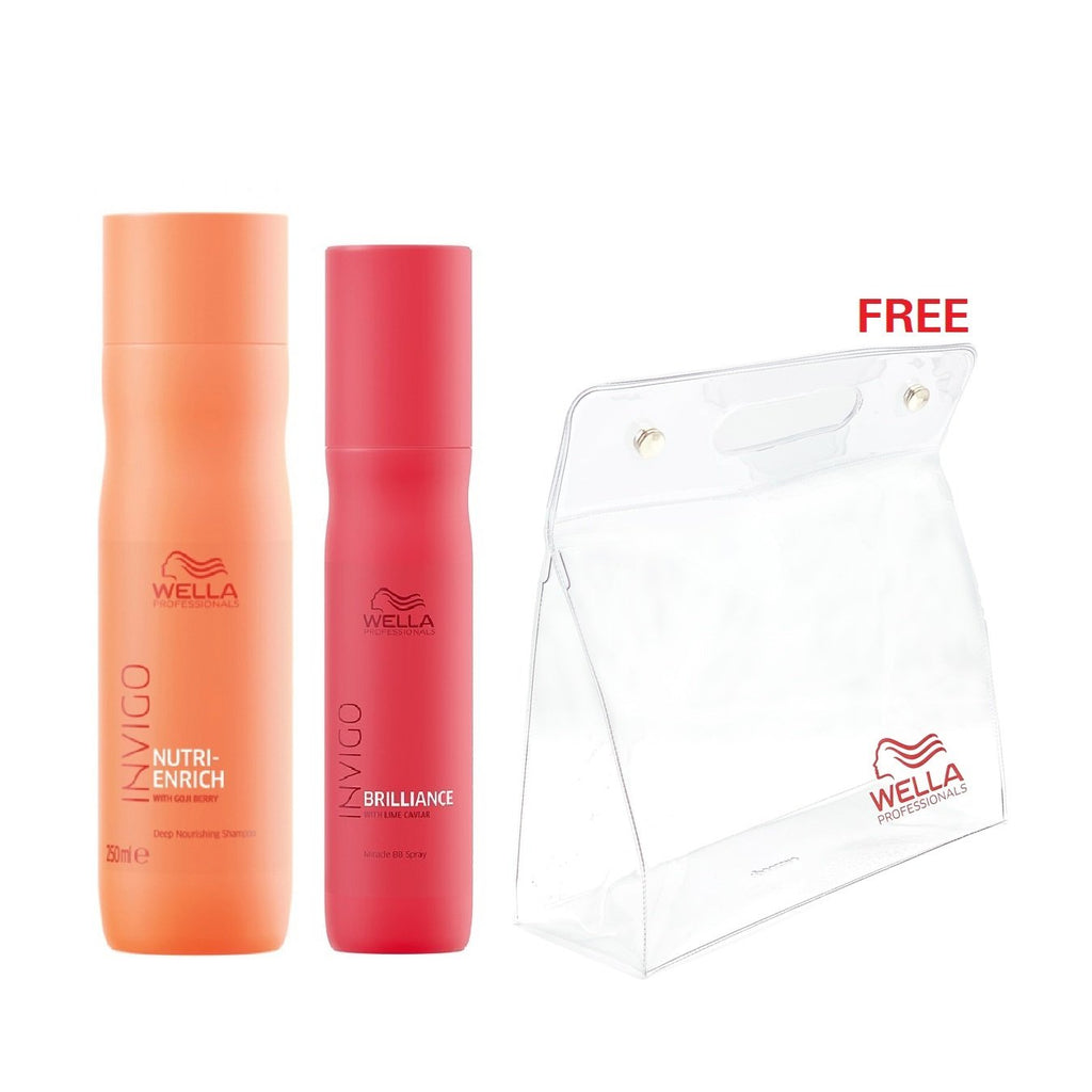 Wella Professional Hair Care Offer: Buy 2 Items Get Free Pouch!