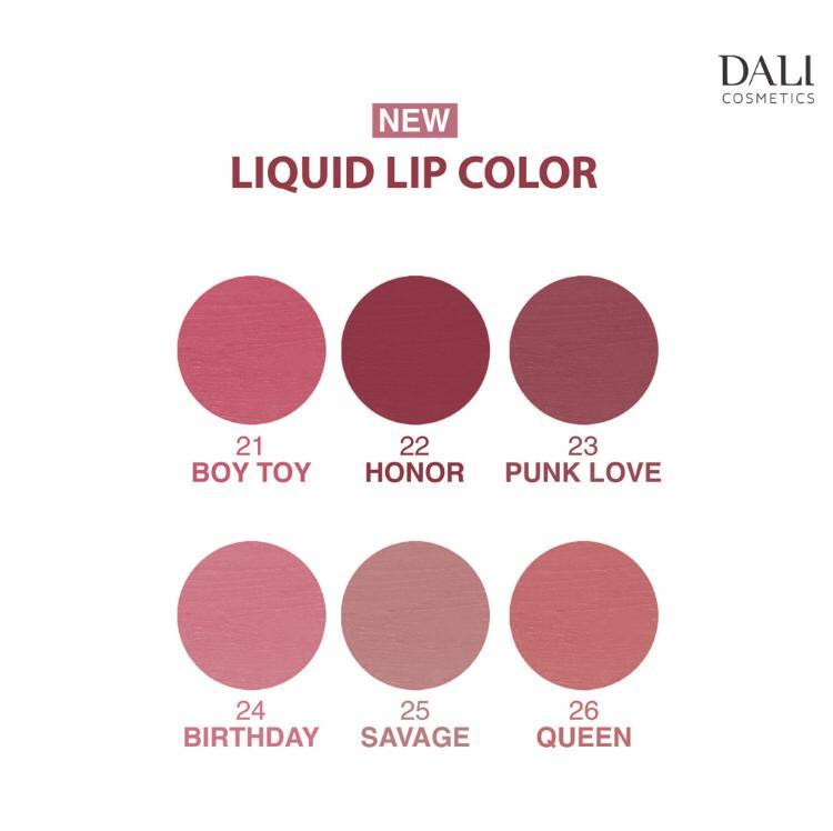 Dali Cosmetics Matte Waterproof Liquid Lipstick - Winter 2019