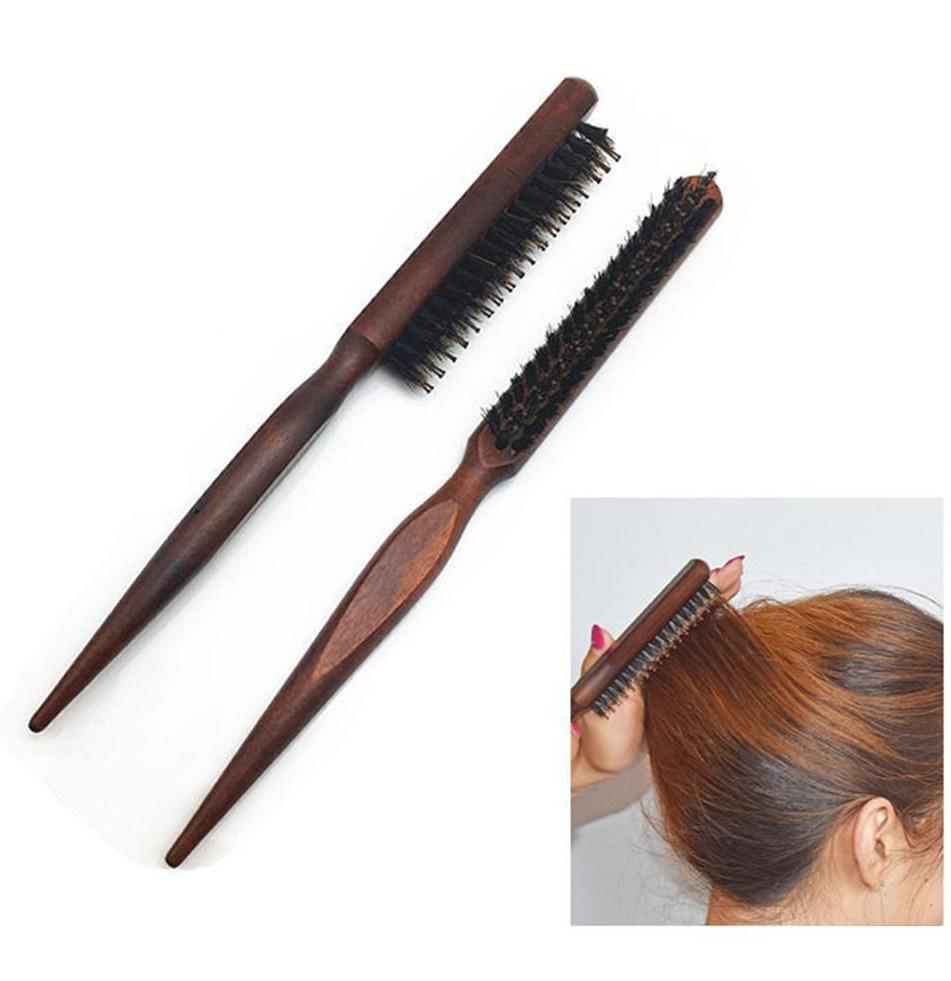 BrushME Teasing Pony Tail Wood Comb