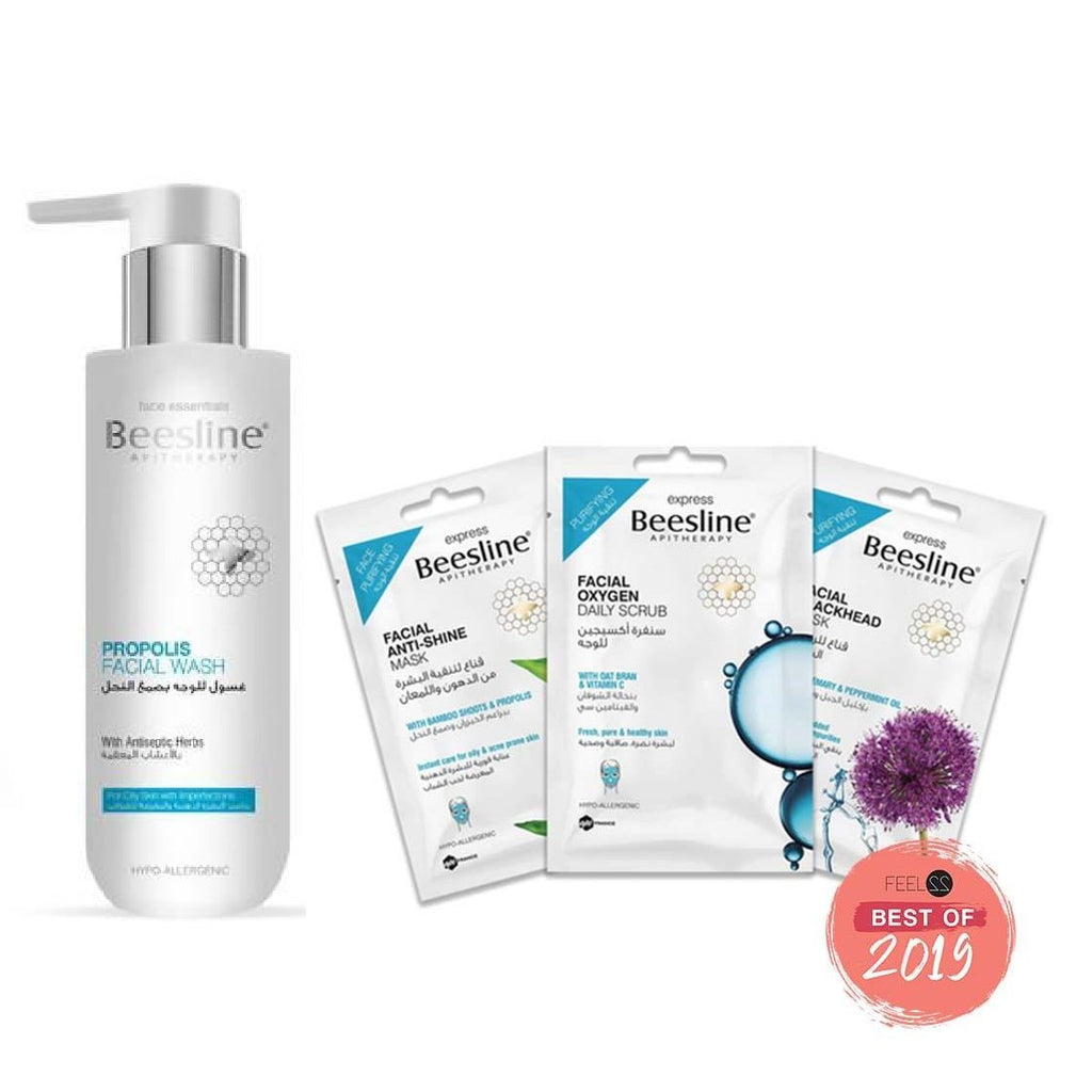 Beesline Oily & Acne Prone Skin Care Routine - Essentials Bundle