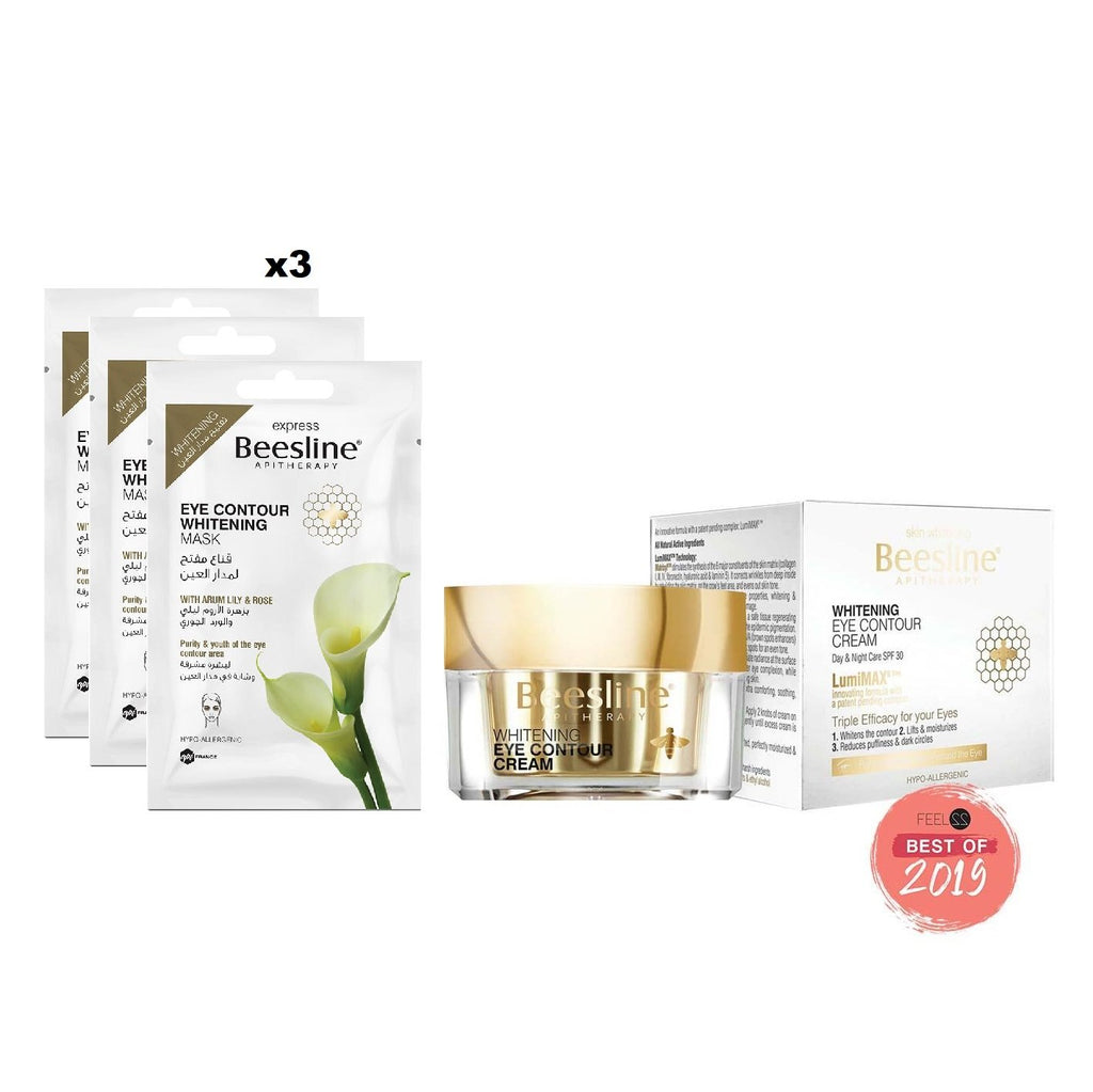 Beesline Dark Circles Solution Offer: Eye Cream + 3 Eye Contour Mask 10% OFF