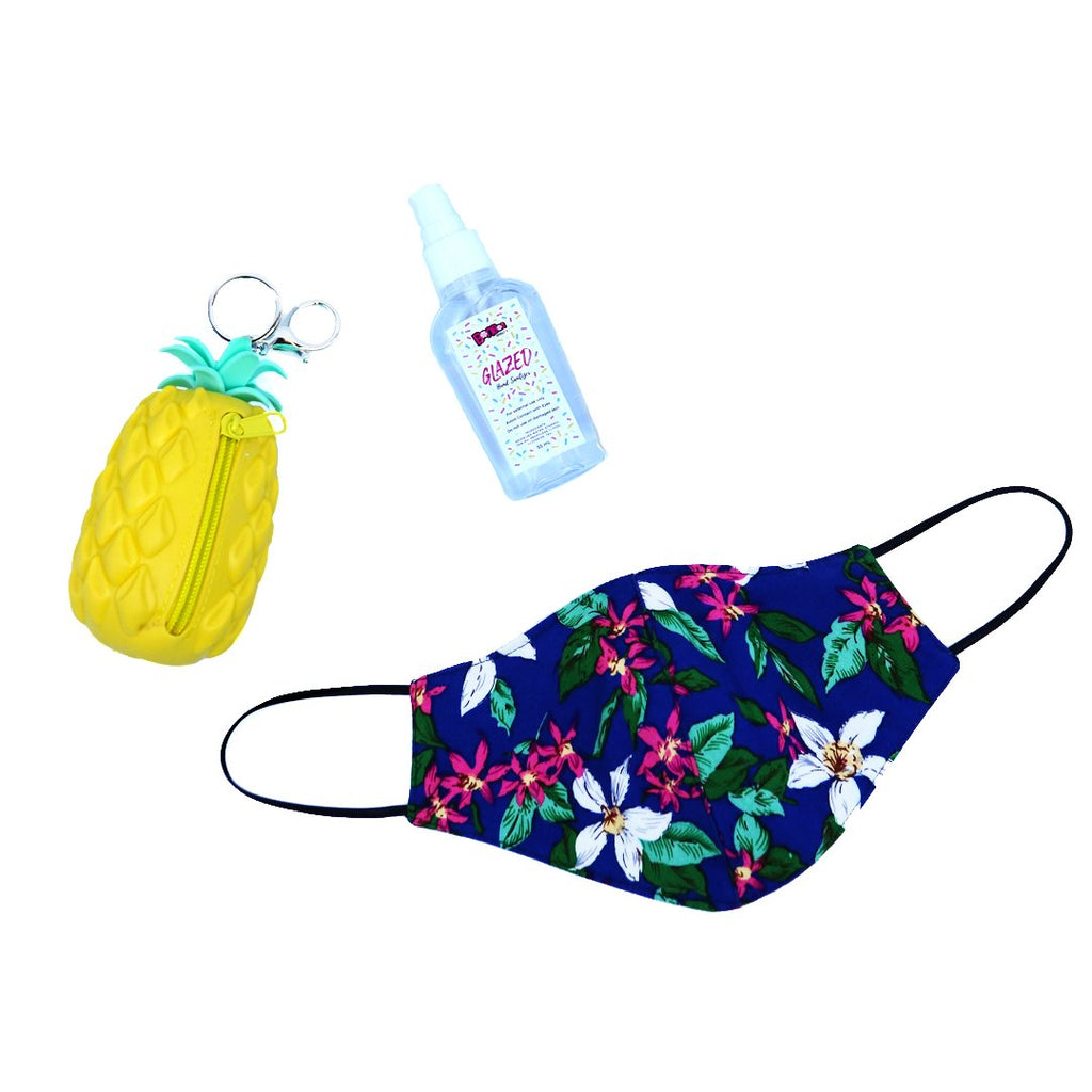 BonBon Beauty Back To School Bundle-(Mini Pouch+Hand Sanitizer+Face Mask)