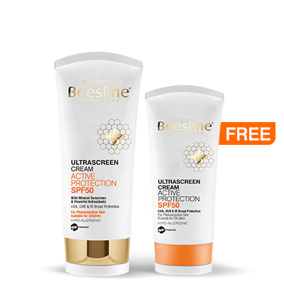 Beesline Ultrascreen Cream Active Protection SPF50 60ml + 60ml Free
