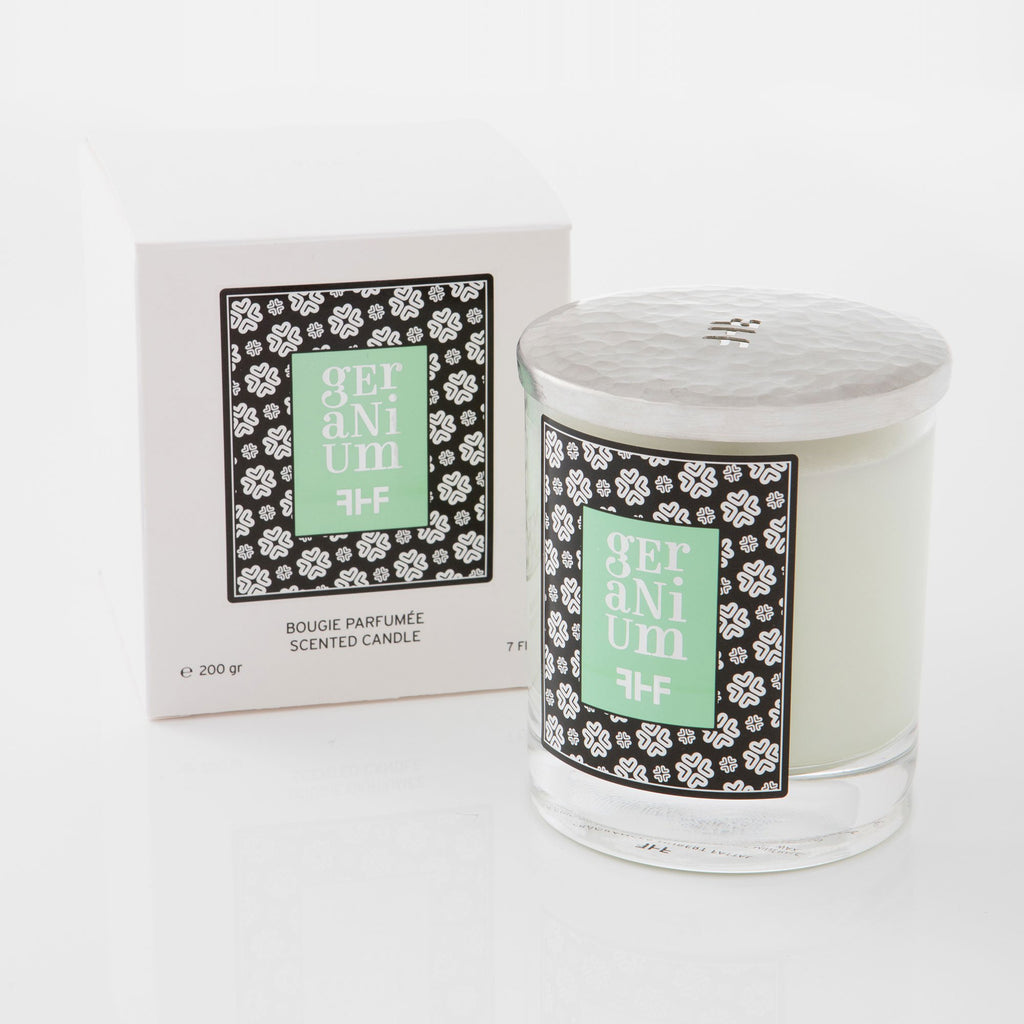 Fragrances Hubert Fattal Geranium Bougies Scented Candle