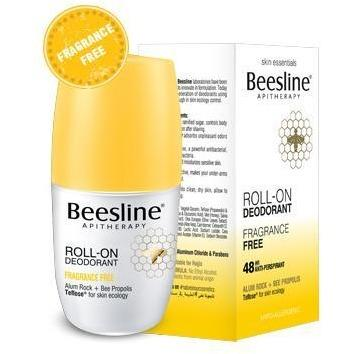 Beesline Natural Roll-On Deodorant Fragrance-Free
