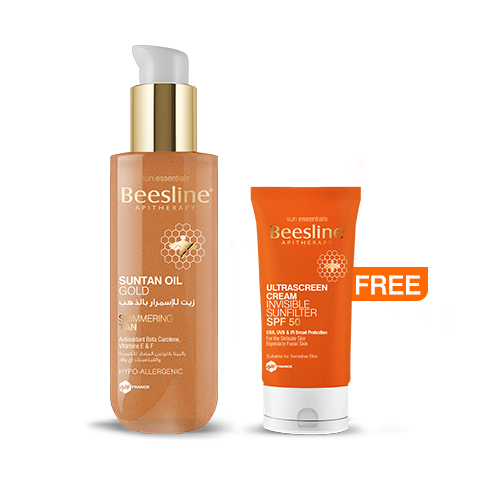 Beesline Summer 2020: Suntan Oil Gold + Free Ultrascreen Cream SPF50