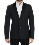 Dark green wool slim fit blazer