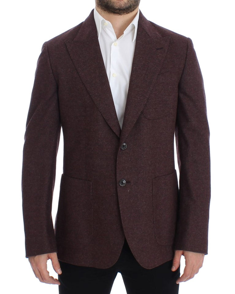 Bordeaux wool stretch blazer