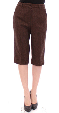 Brown wool shorts pants