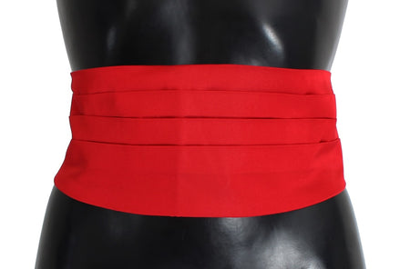Red Waist Belt Silk Cummerbund