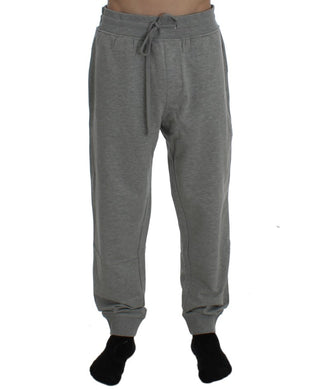 Gray Cotton Stretch Pants
