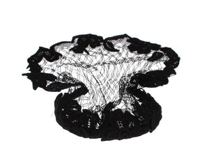 Black Floral Crochet Hair Net