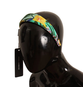 Multicolor Floral Cotton Silk Headband