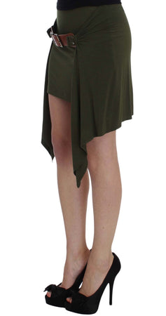 Green Mini Pencil Stretch Skirt