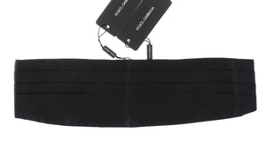 Black Wide Belt Silk Cummerbund