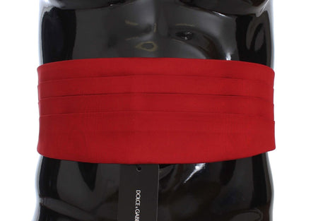 Red Wide Belt Silk Cummerbund
