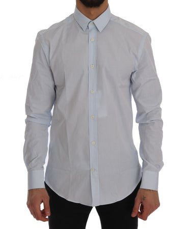 Light Blue Cotton Dress Shirt Trend Fit