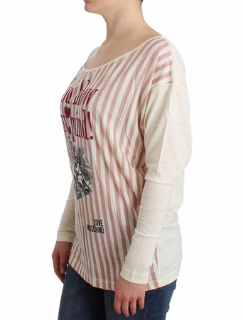White striped longsleeved cotton top