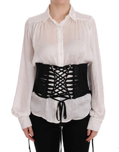 Black Stretch Waist Corset Belt