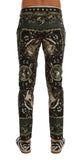 "Green ""Teatro die Pupi"" Print Cotton Pants"