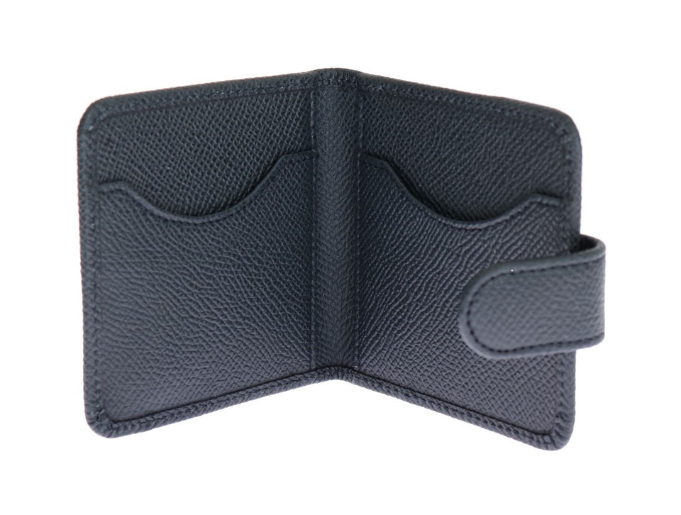 Blue Dauphine Leather Condom Holder