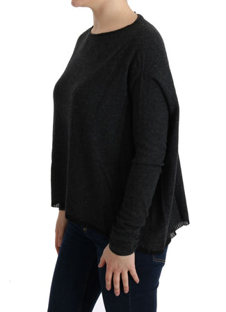 Gray Viscose Knitted Sweater
