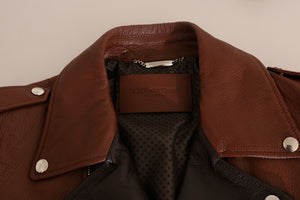 Brown Leather Biker Deerskin Jacket
