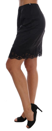 Black Wool Lace Underwear Skirt