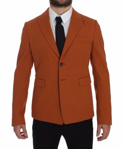 Orange Cotton Stretch Blazer