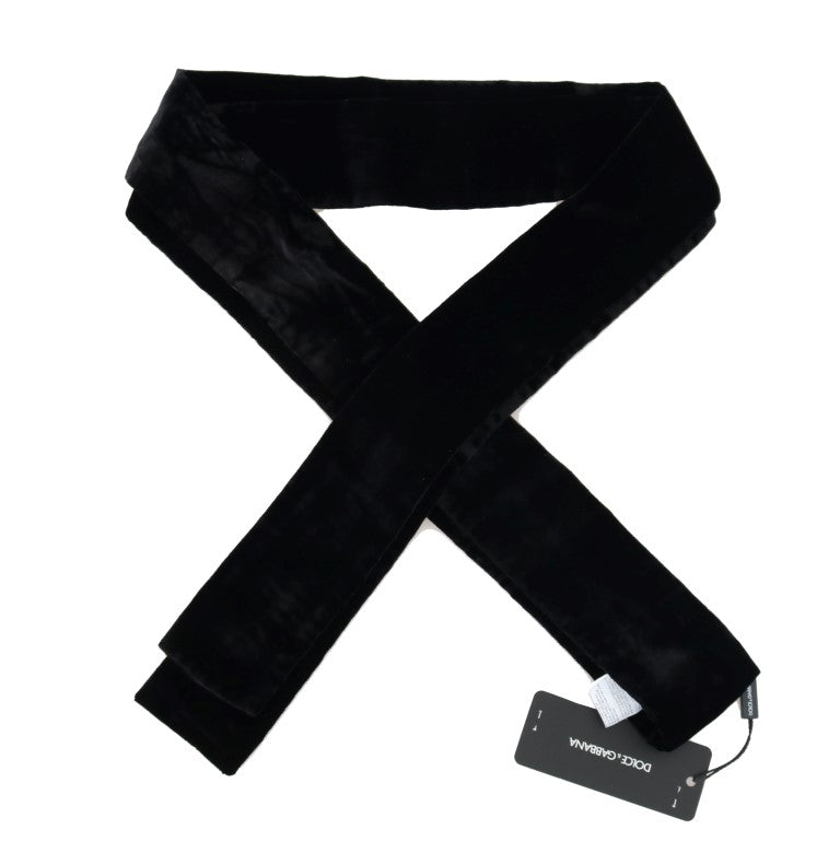 Black Velvet Wide Runway Catwalk Waist Belt