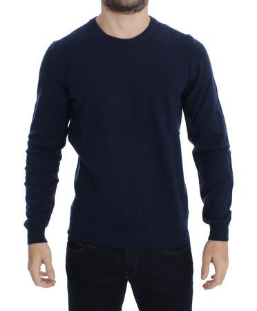 Blue Wool Crewneck Pullover Sweater