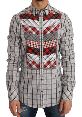 Multicolor Check Cotton Slim Fit Shirt