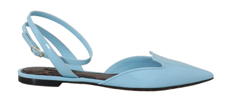 Blue Patent Leather Ankle Strap