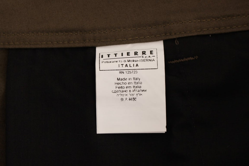Green Cotton Stretch Comfort Fit Pants