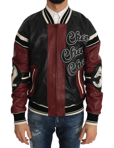 Leather Club Lounge Black Red Jacket