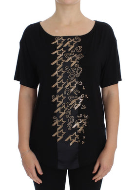 Black Gold Studded T-shirt Top