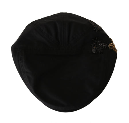 Black Crystal AMORE Royal Bee Newsboy Hat