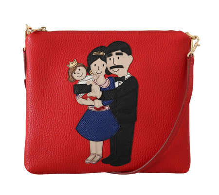 Red Leather #dgfamily Messenger Purse