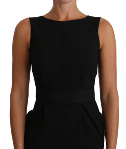 Black LBD Coctail Pencil Sheath Dress