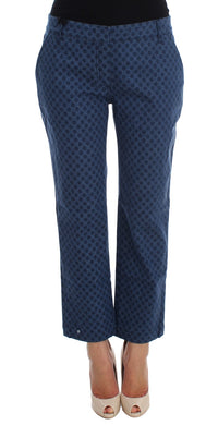Polka Dotted Stretch Capri Jeans